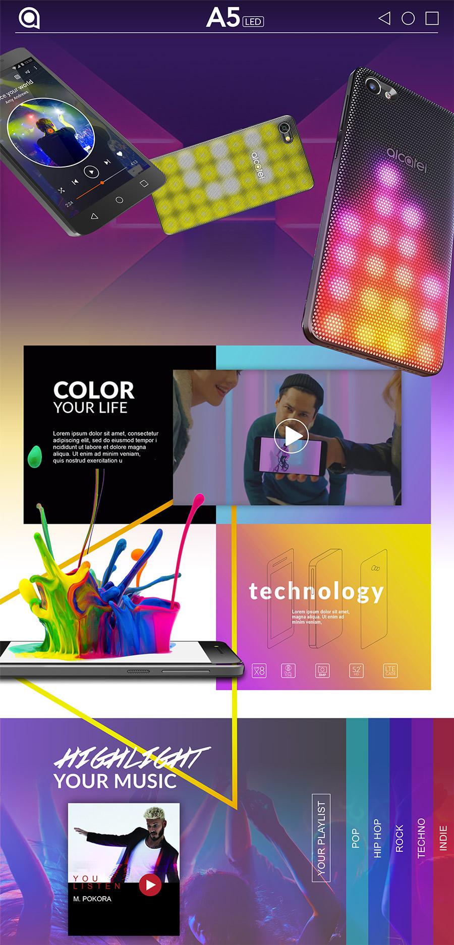 Web design – Site produit